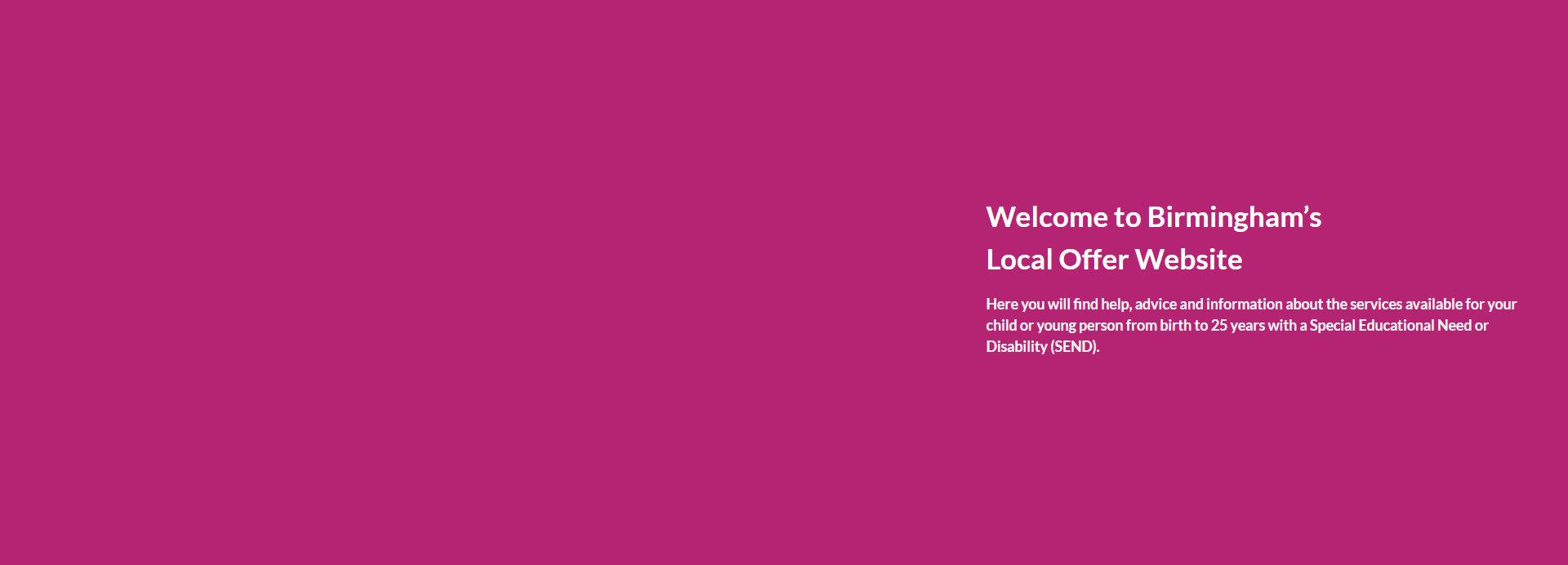 The Birmingham Local Offer website launch